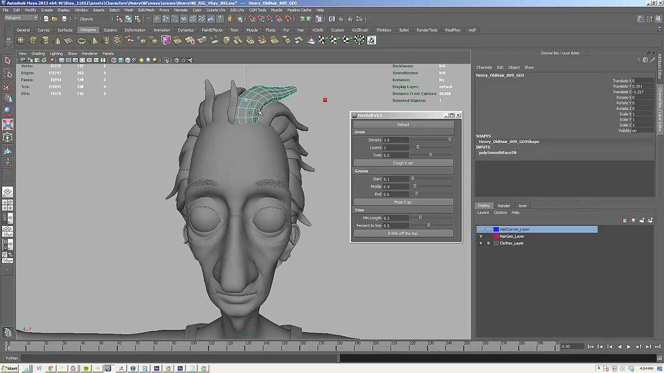 Creating-Character-Hair-in-Maya-1
